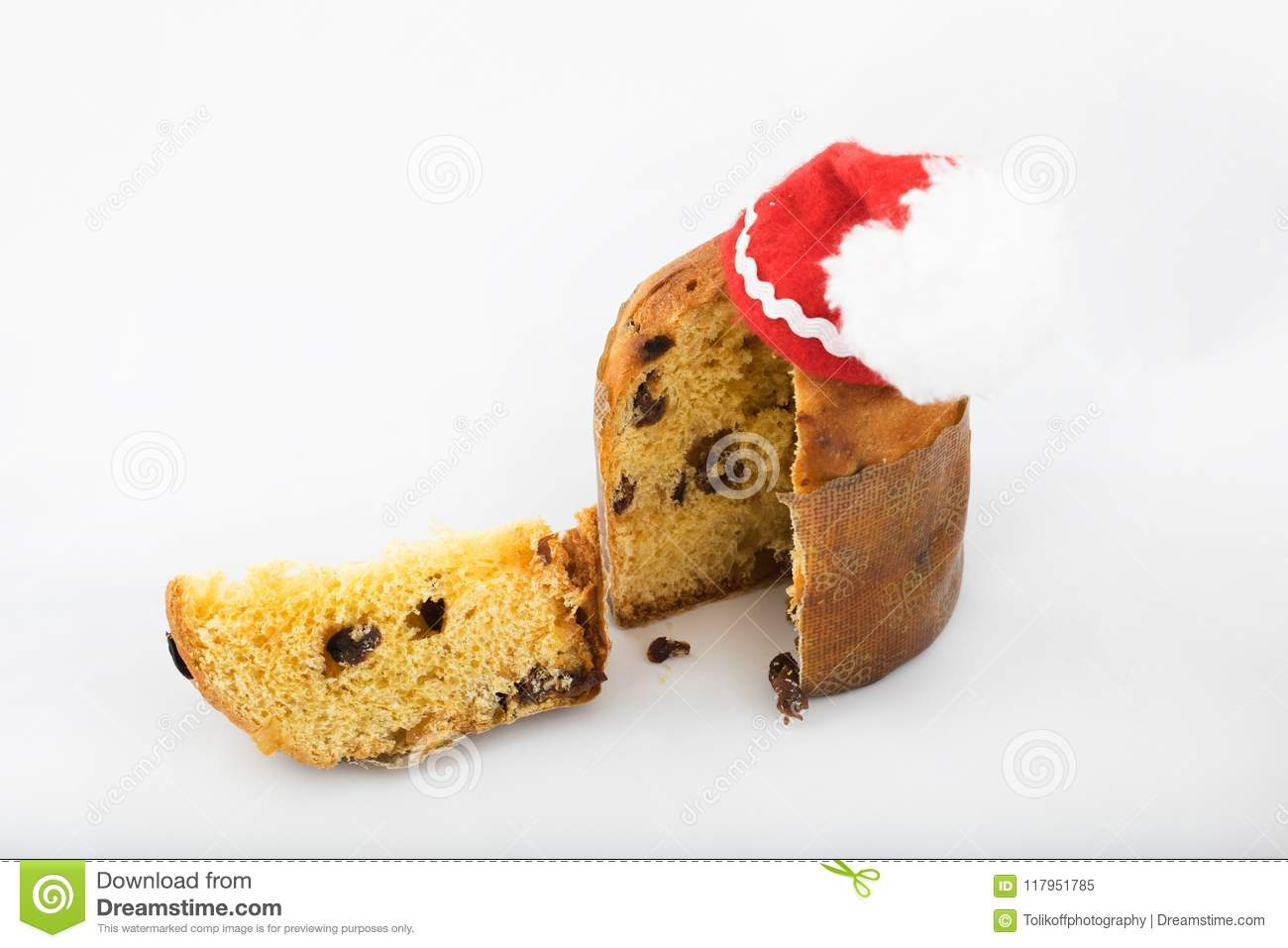 Traditional Italian Christmas Sweet Cake. Closeup Stock Image ...