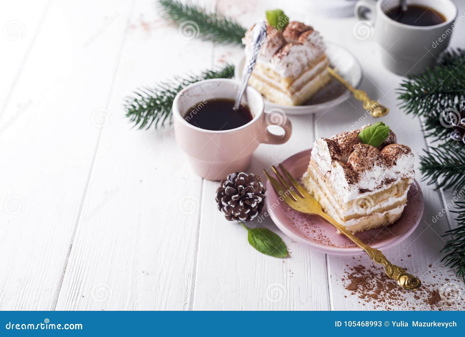 Traditional Italian Dessert Tiramisu Stock Image - Image of biscuit ...