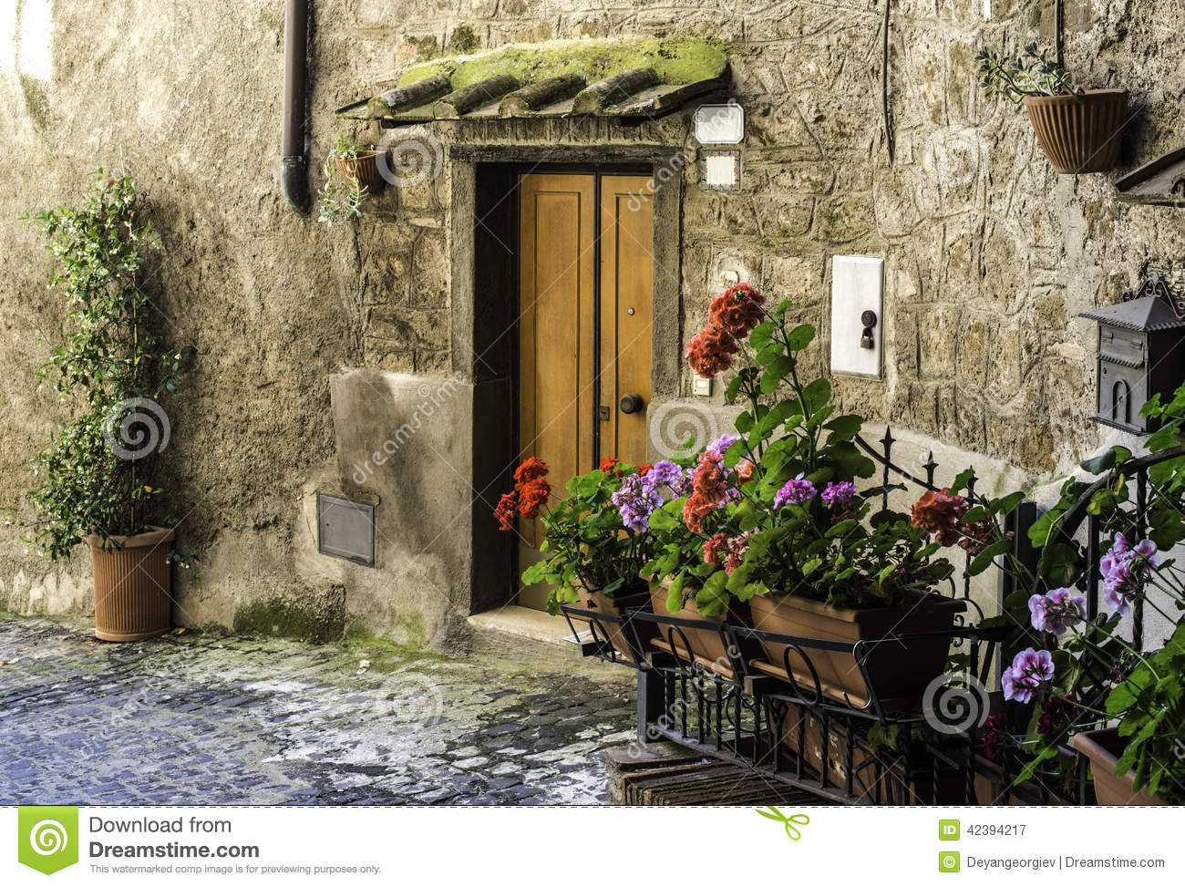 Traditional italian homes stock image image of for Classic italian house