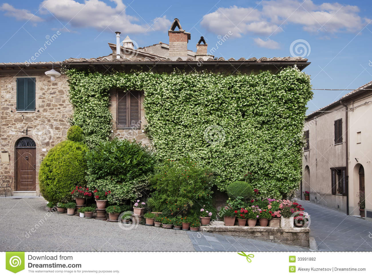 Traditional italian house in a small village tuscany italy