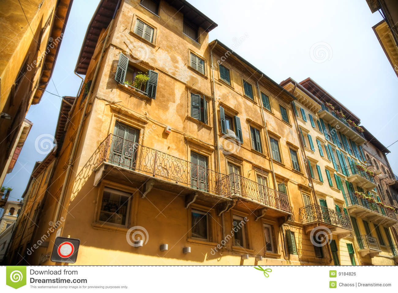 Traditional italian old houses royalty free stock image for Old traditional houses