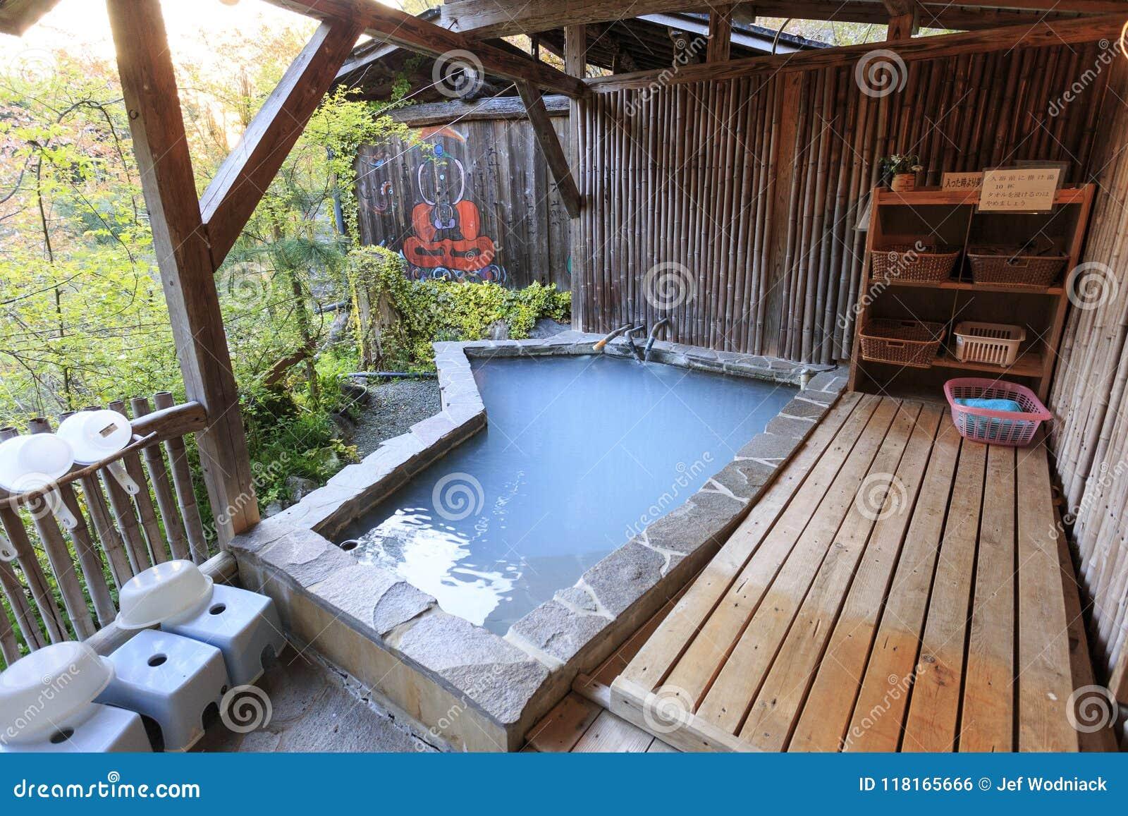 Traditional Japanese Bath In Yamagawan. Stock Photo - Image of ...