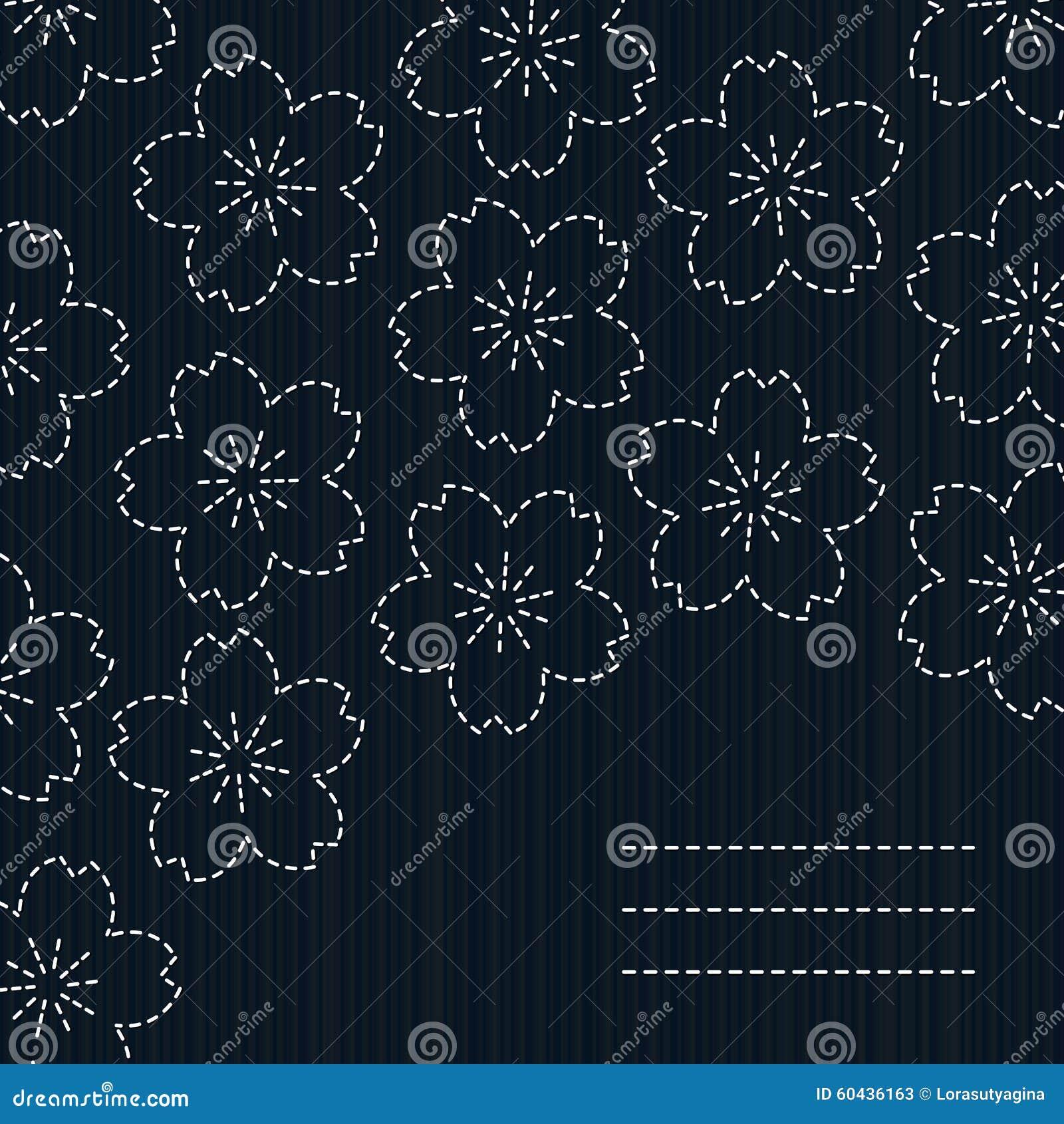 how to draw sashiko patterns