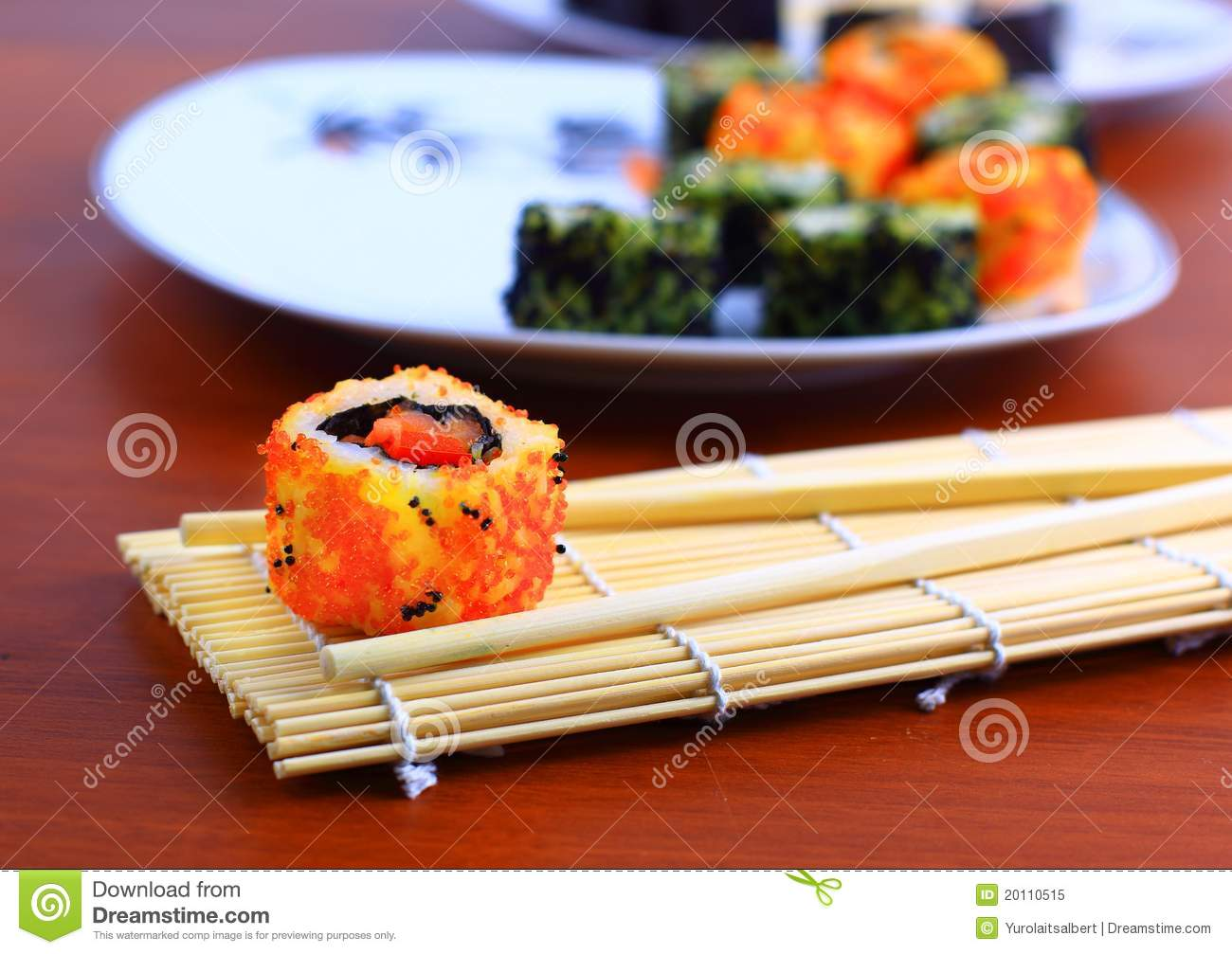 Traditional japanese food stock image image of avocado for Authentic asian cuisine