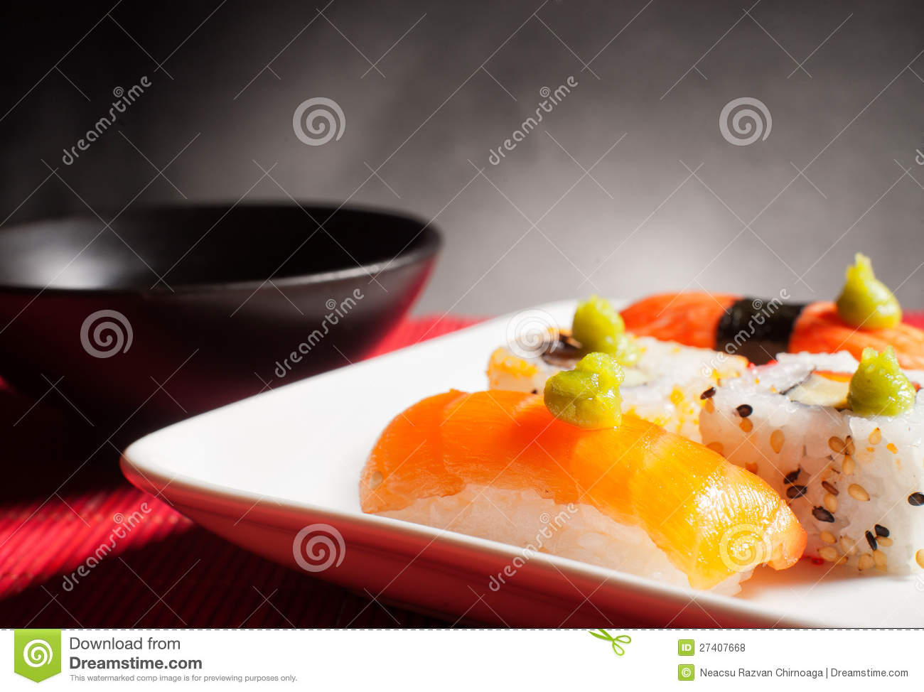 Traditional japanese food stock image for Authentic asian cuisine