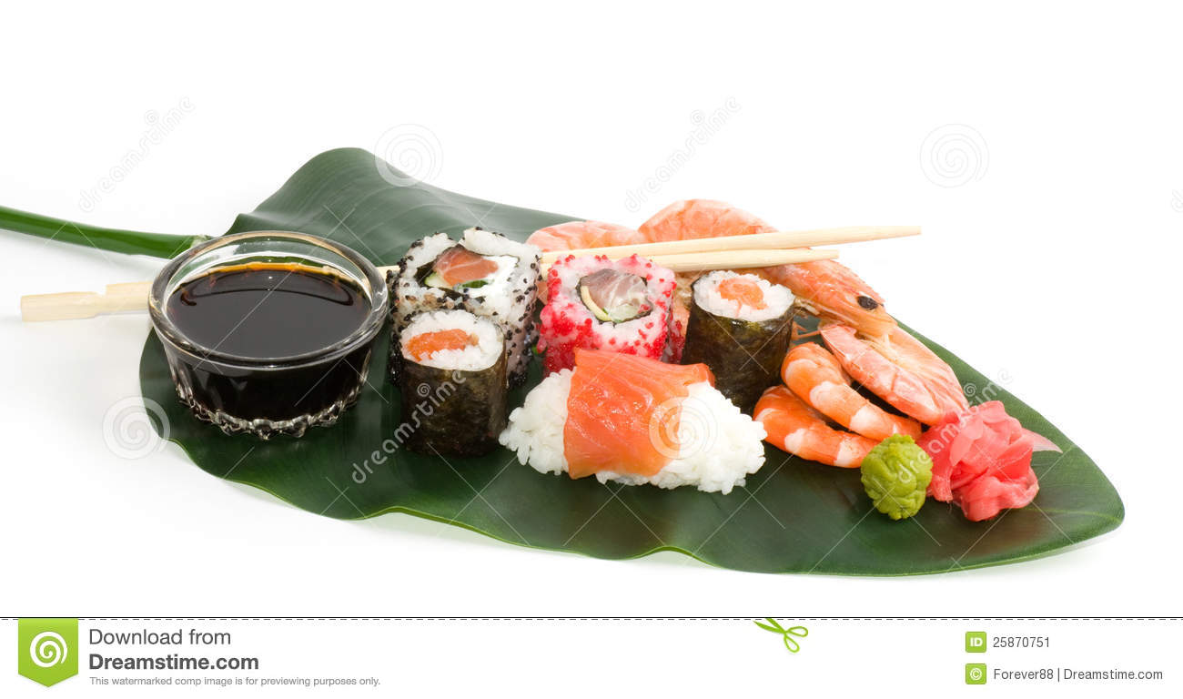 Traditional japanese food sushi stock image image 25870751 for Authentic japanese cuisine