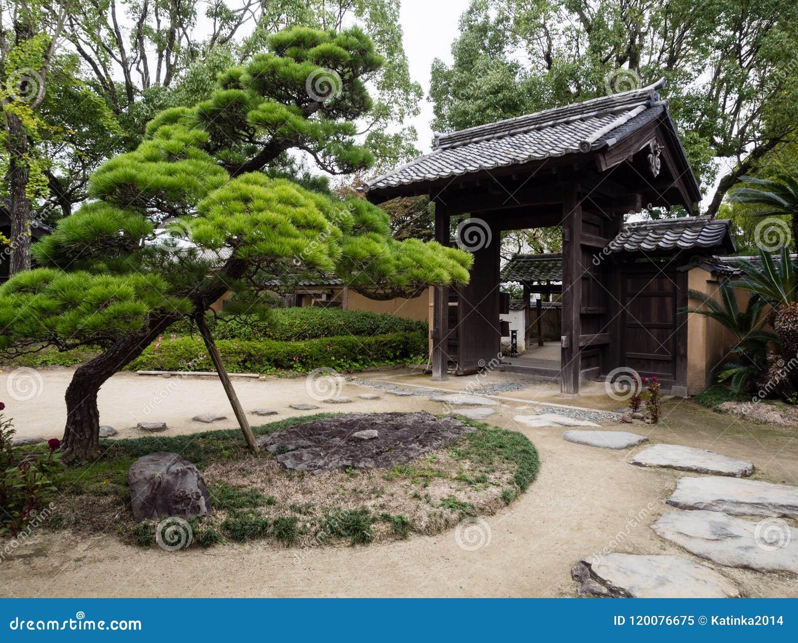Kitsuki, Japan - October 31, 2016: Entrance to Nomi residence, a samurai house from Edo period