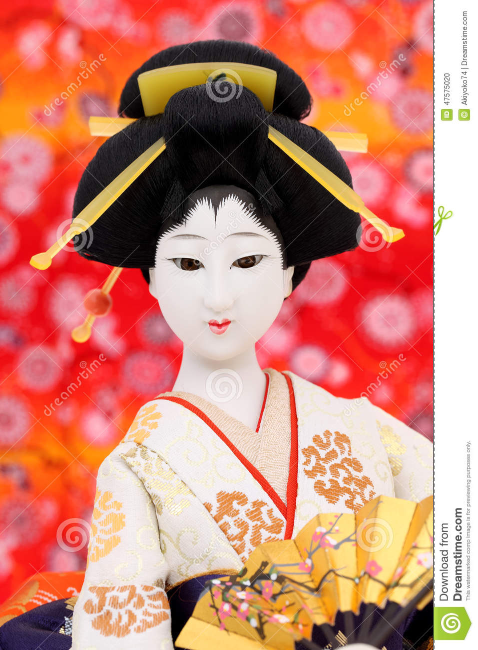 Traditional Japanese Geisha Doll Stock Photo Image 47575020