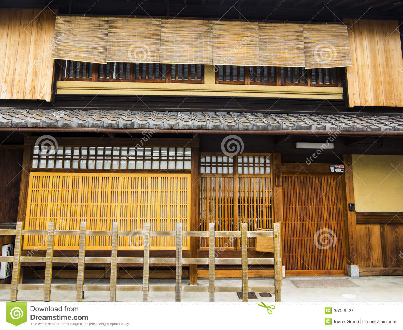 Traditional Japanese House Stock Photo Image Of Mats