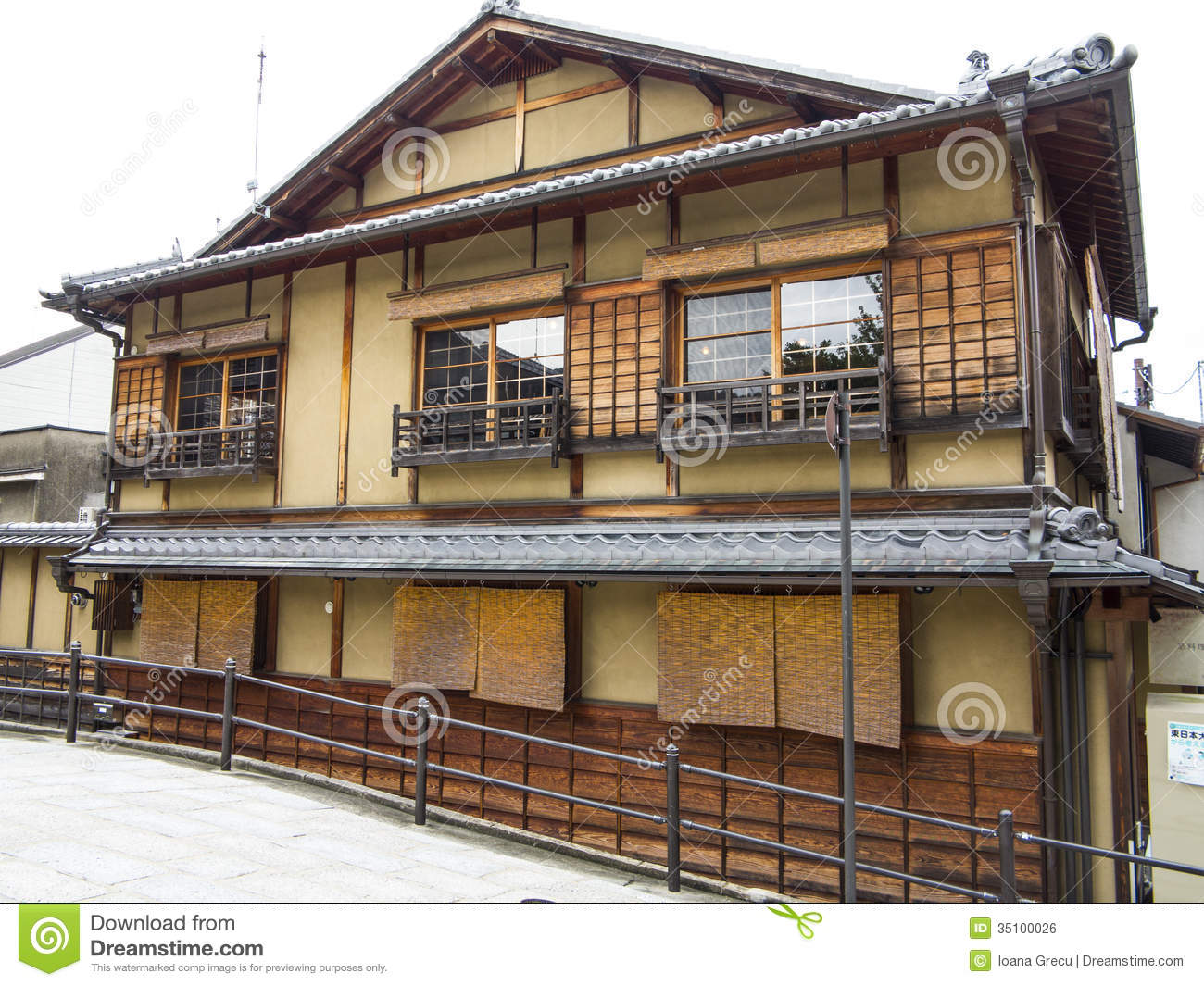 Traditional japanese house royalty free stock image for Architecture japonaise