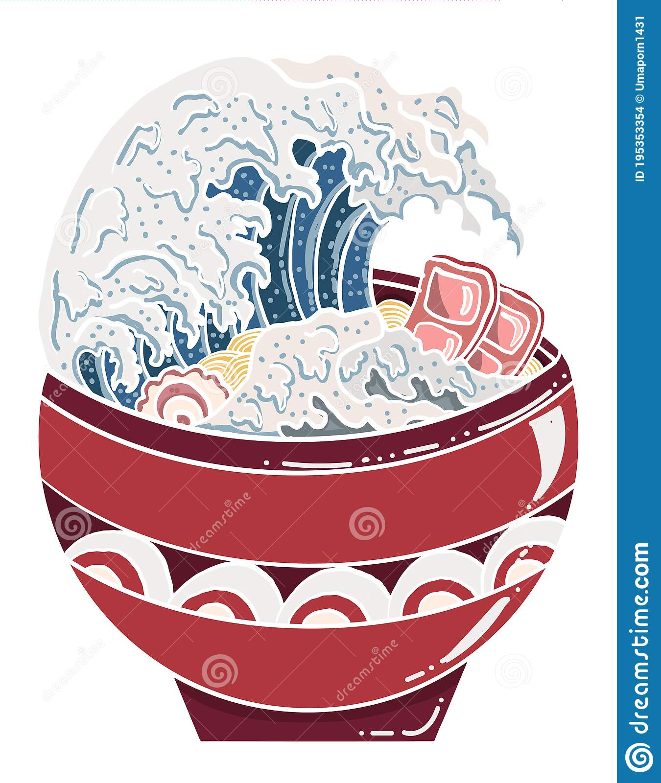 Ramen Vector Illustration For Doodle Art Stock Vector Illustration Of Fashion Chinese 195353354