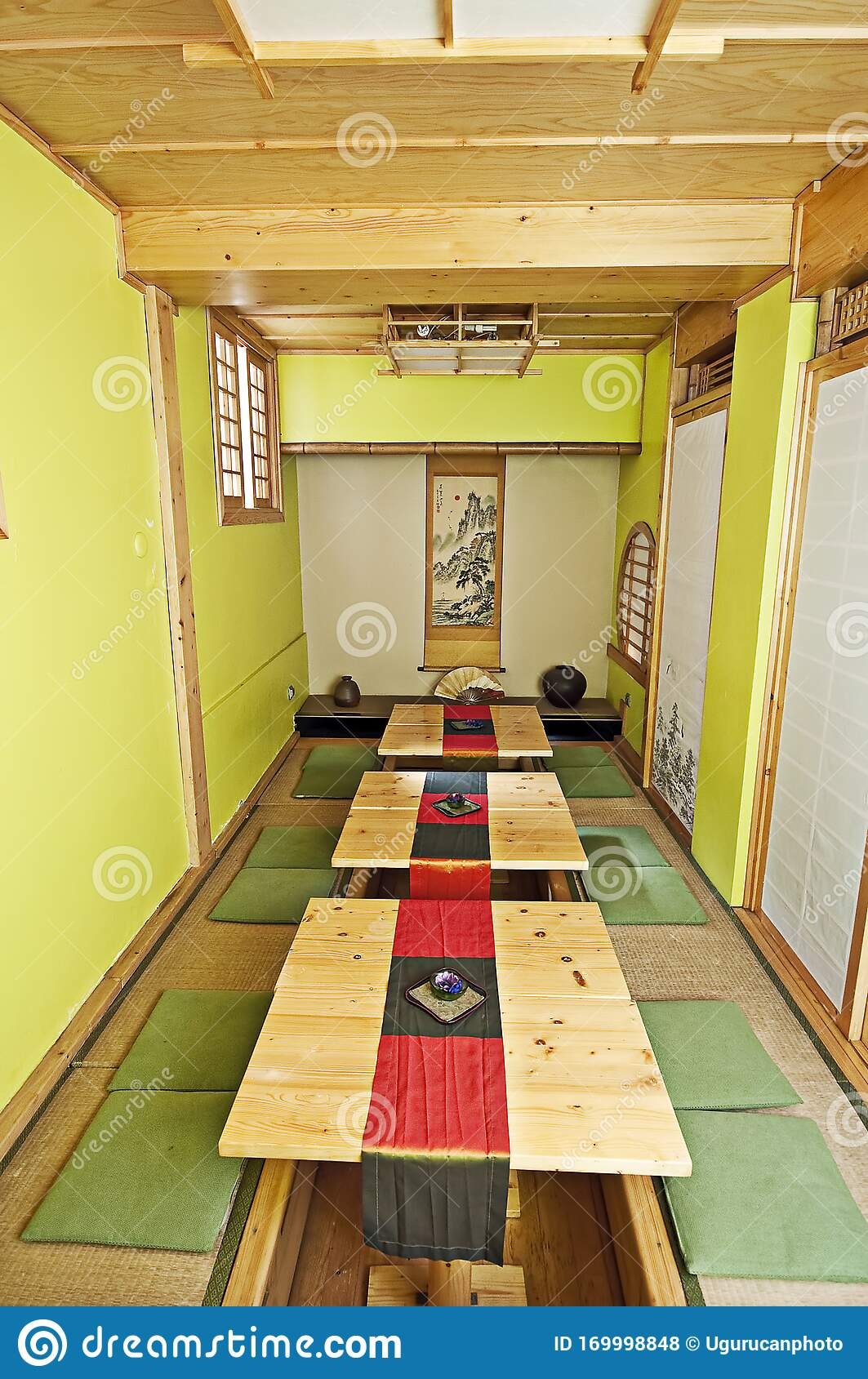 Traditional Japanese Restaurant Interior And Design Editorial Stock Photo Image Of Bamboo Design 169998848