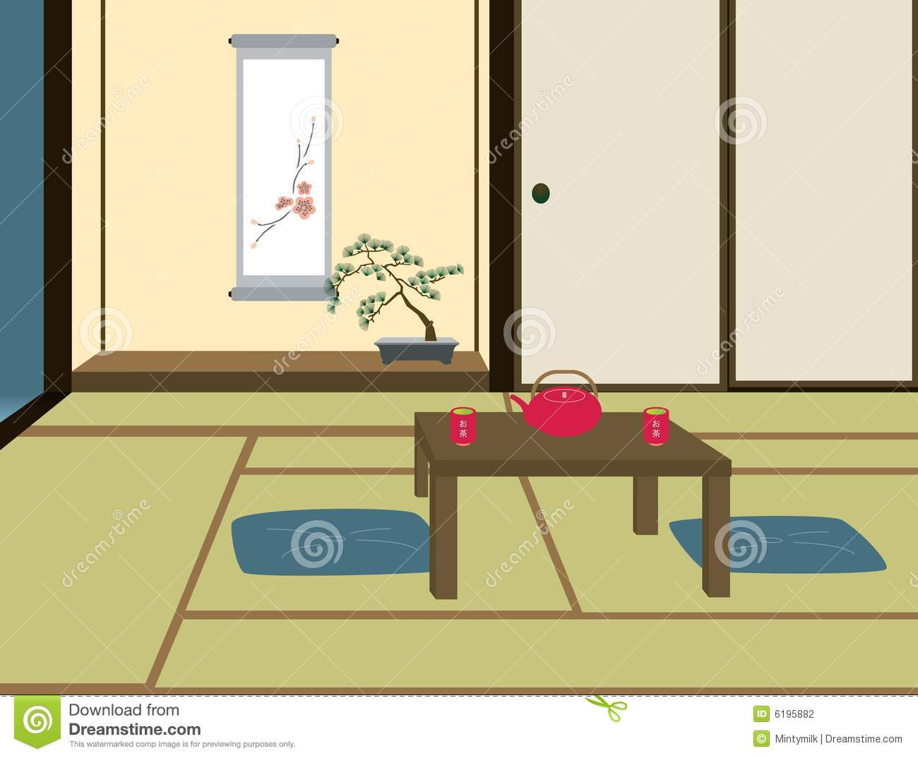 Traditional Japanese Room Stock Photography Image 6195882