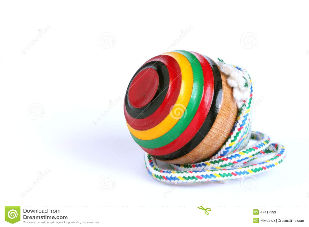 Japanese Toy Tops : Traditional japanese spinning top stock photo image