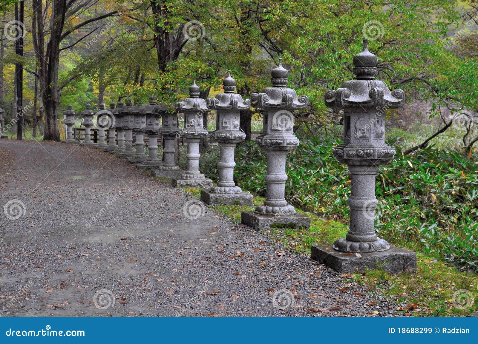 traditional japanese stone lantern royalty free stock. Black Bedroom Furniture Sets. Home Design Ideas