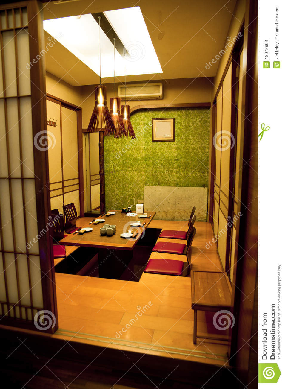 traditional japanese style room royalty free stock photos image