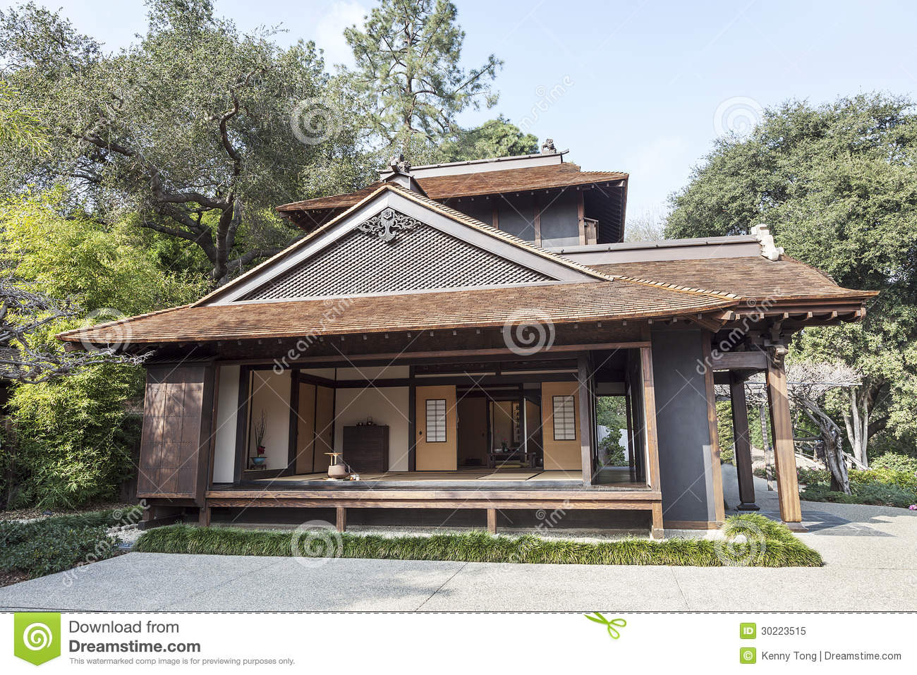 Japanese House Design On Town Line Road Japanese Tea House Royalty Free Stock Photo Image 30223515