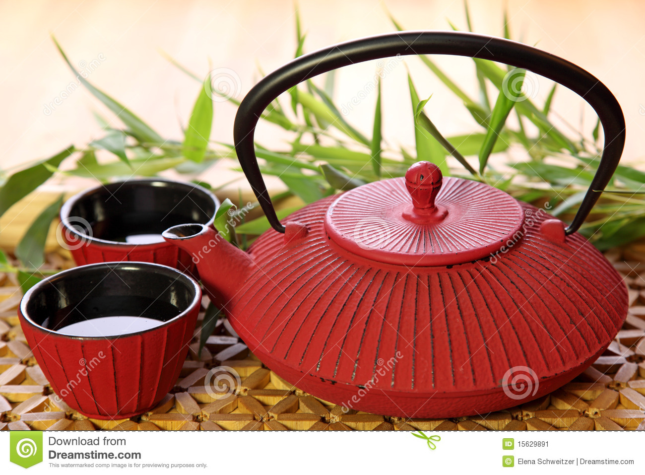 Traditional Japanese Teapot Stock Image Image 15629891