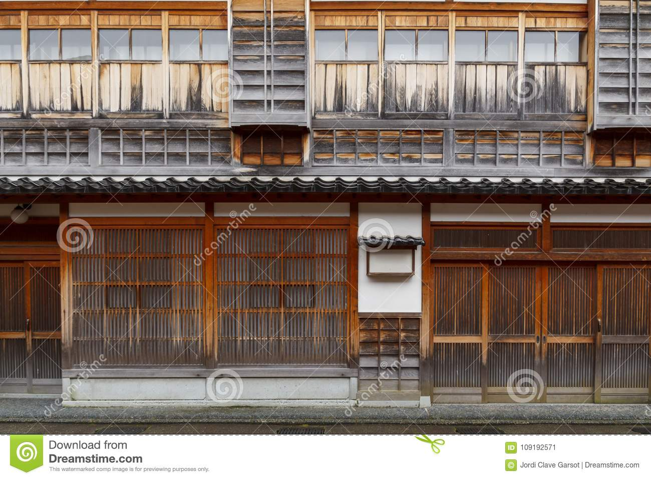 Typical wooden house in Japan & Typical Wooden House In Japan Stock Image - Image of beautiful ...