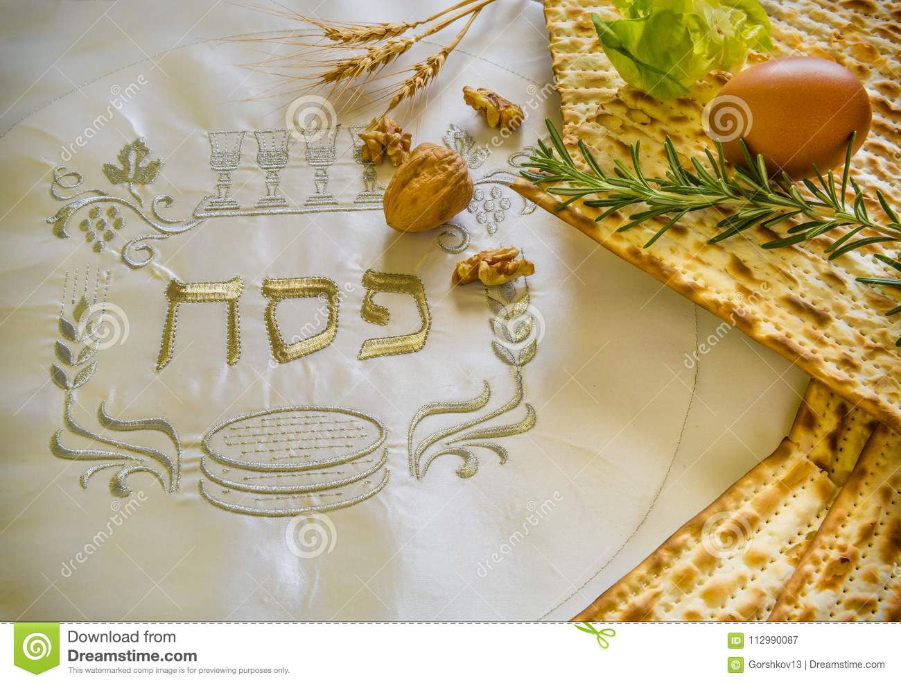 Traditional Jewish food and drink for Jewish Passover - Pesach holiday