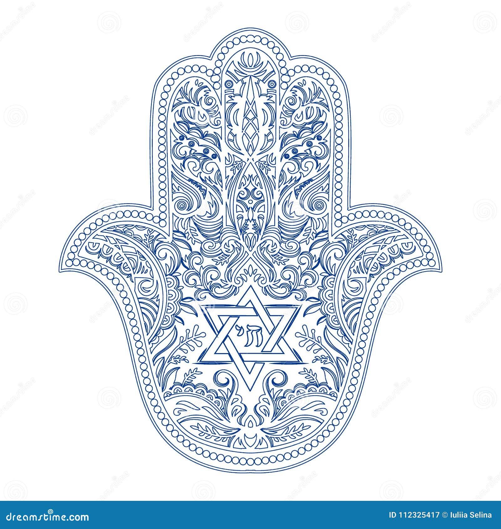 Jewish Hamsa Tattoo Stock Vector Illustration Of Quality 112325417