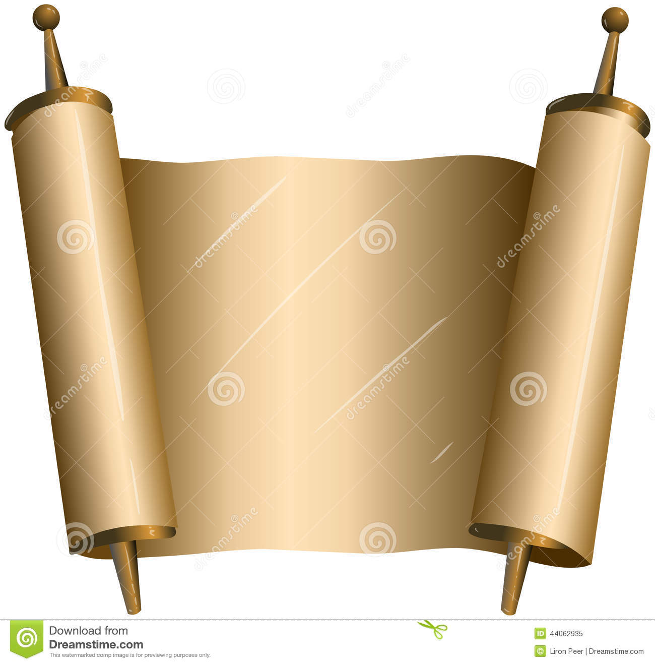 Traditional Jewish Torah Scroll Stock Vector - Image: 44062935