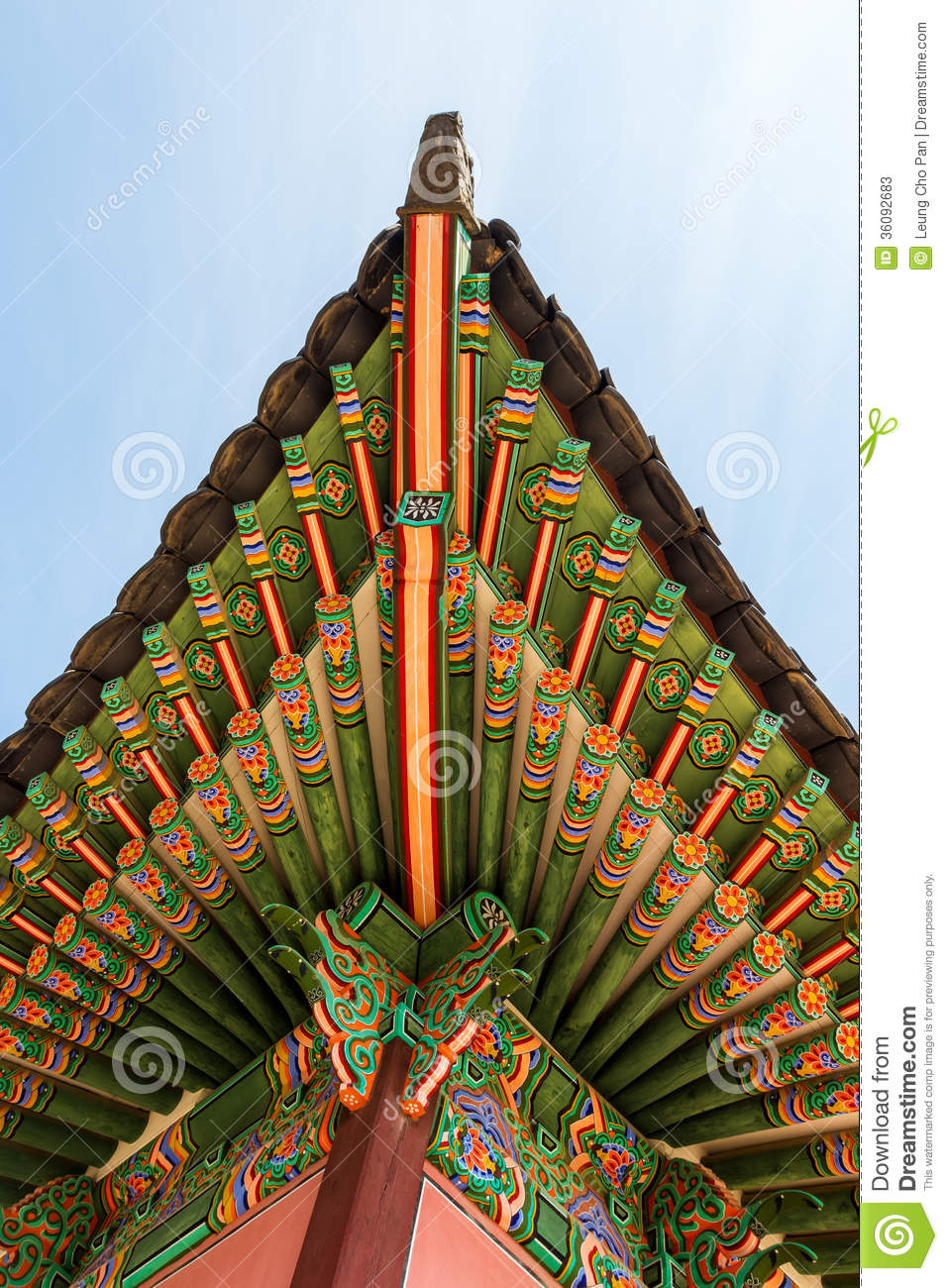 Traditional Korean Architecture Roof Eaves Stock Photos  Image: 36092683