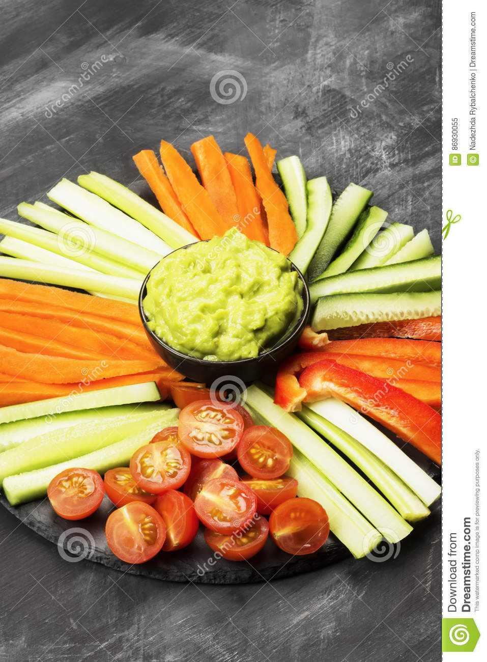Traditional Latin American Sauce Guacamole In A Bowl And ...