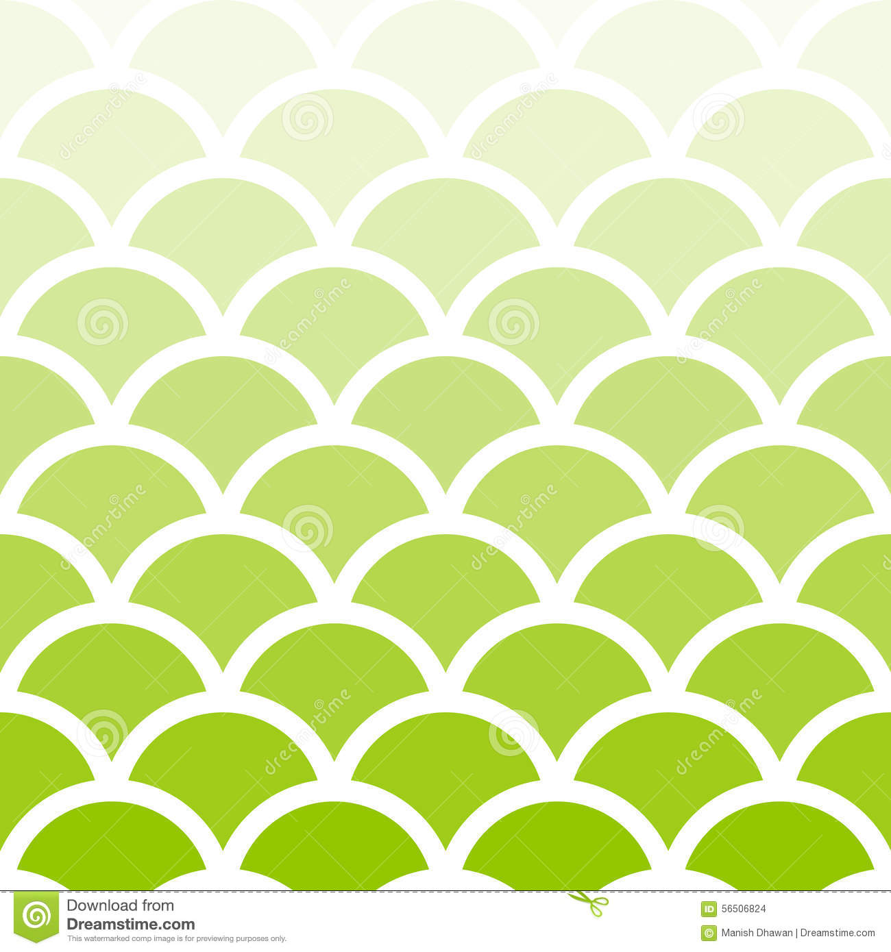 Traditional Light Green Seigaiha Japanese Seamless Wave ...