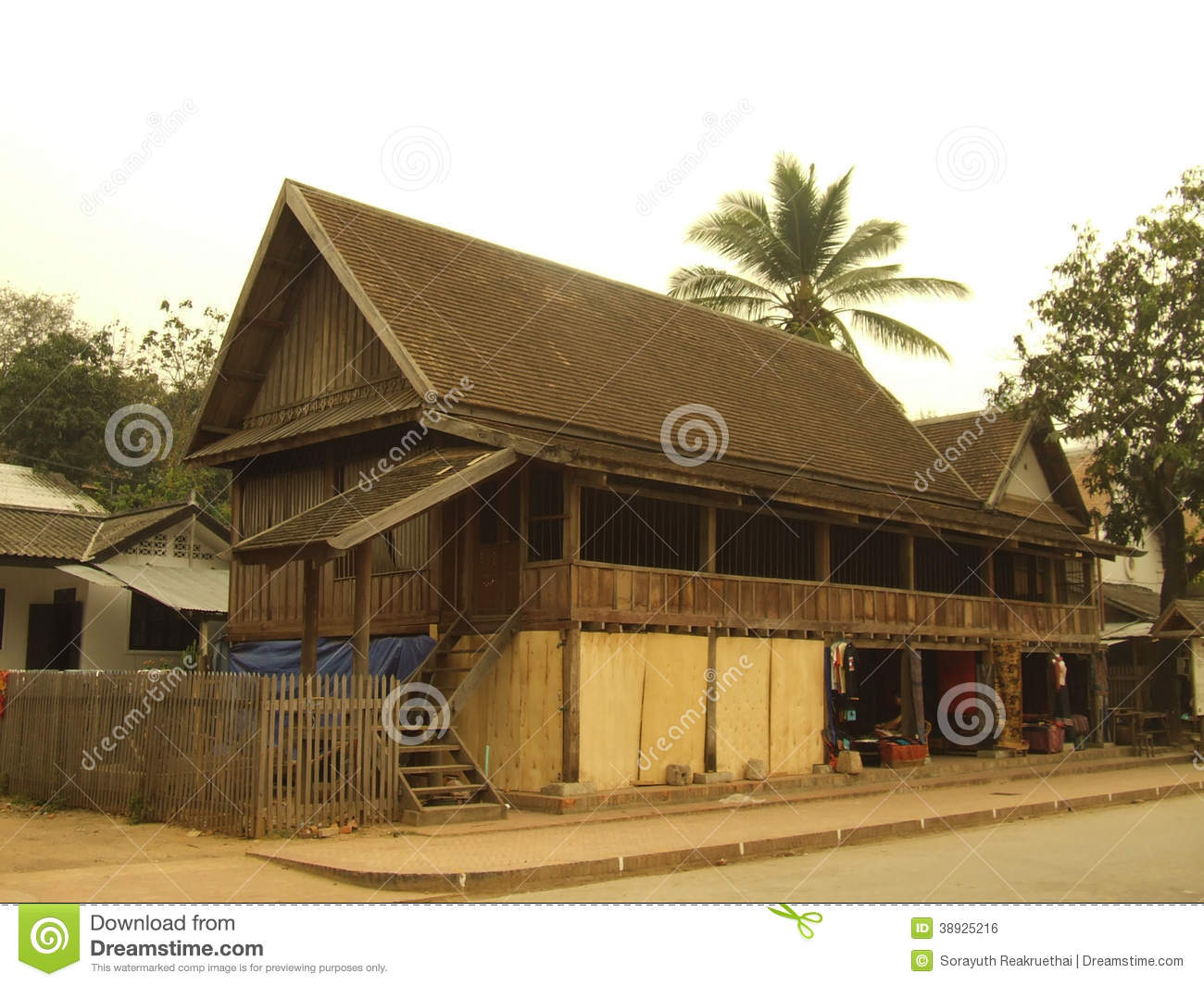 Traditional local style house editorial photo image for Conventional style home