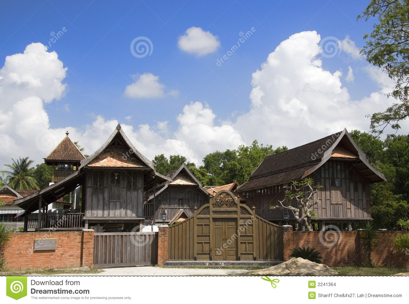 Traditional malay house stock photo image of natural for House design malaysia architecture