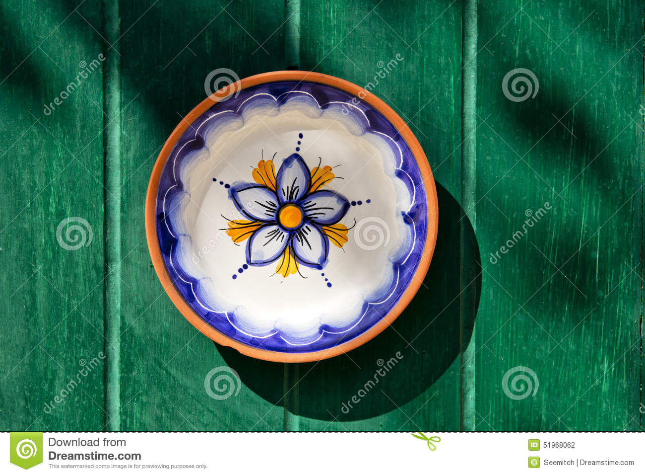 Traditional maltese hand-painted plate