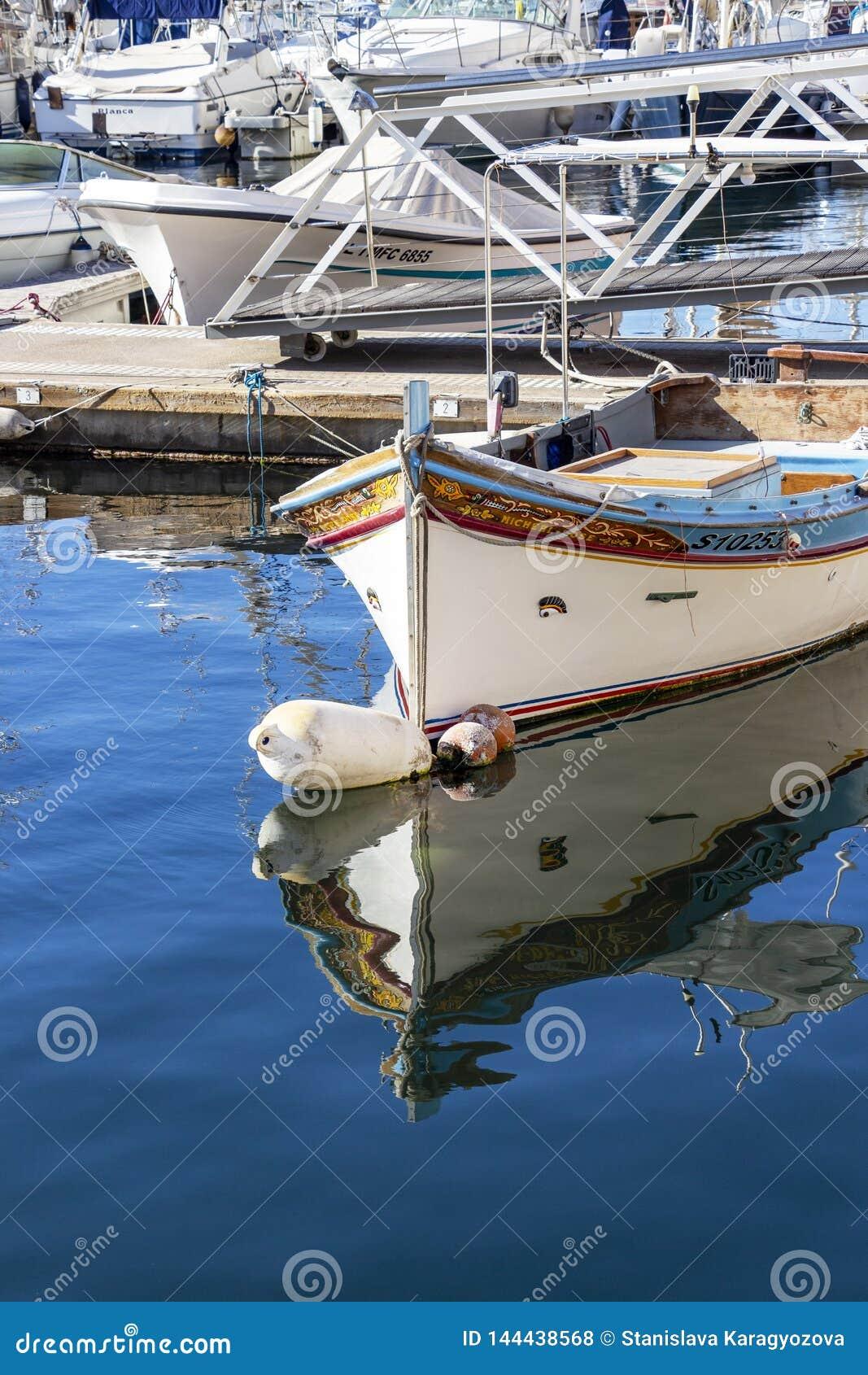 Traditional Maltese Luzzu boat