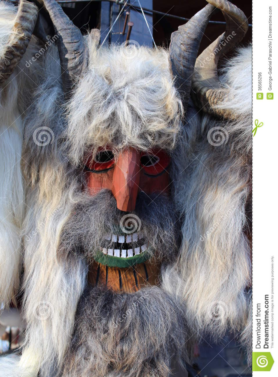 Traditional Mask Bran Romania Stock Photo
