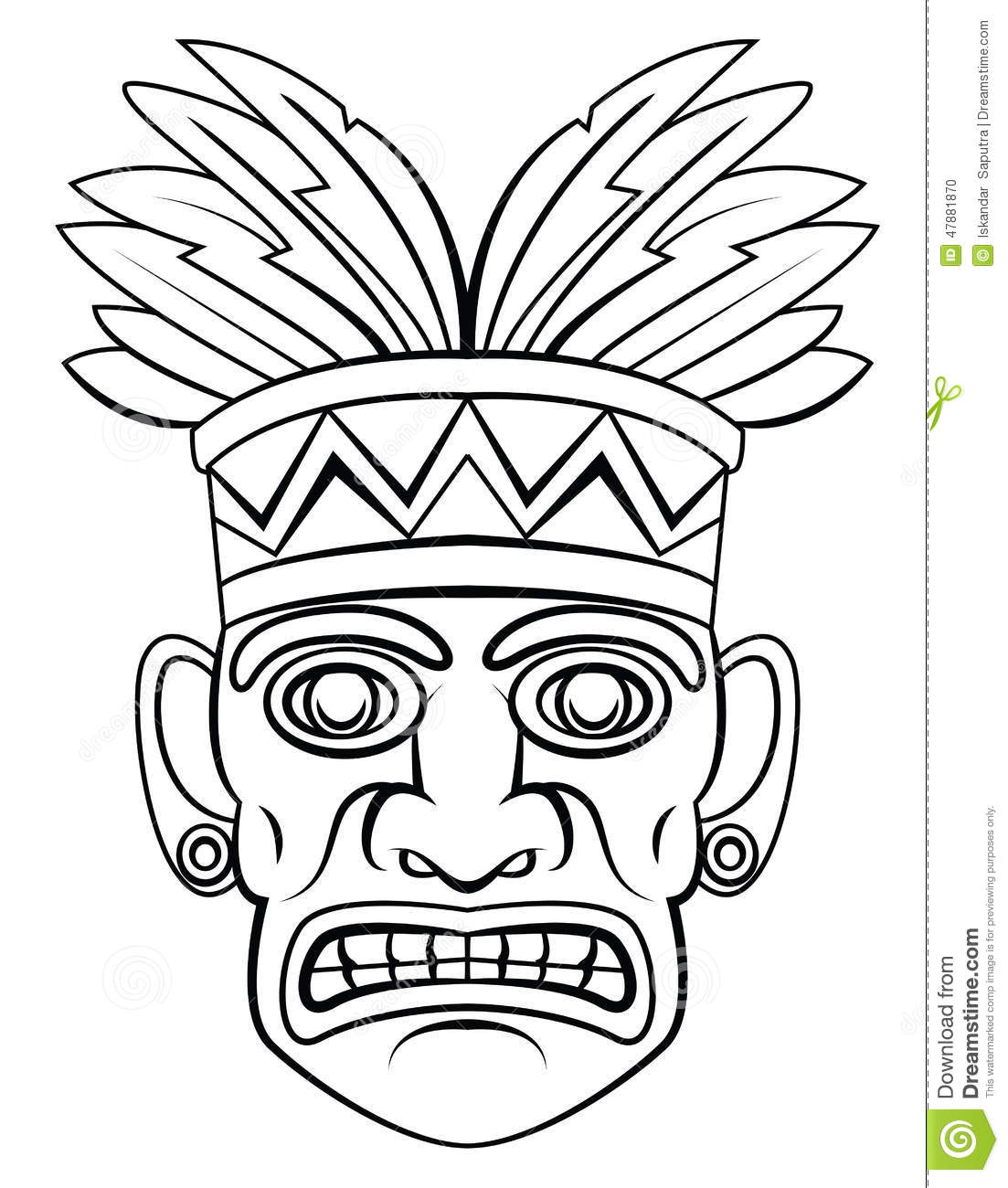 Traditional Mask Stock Vector Image 47881870