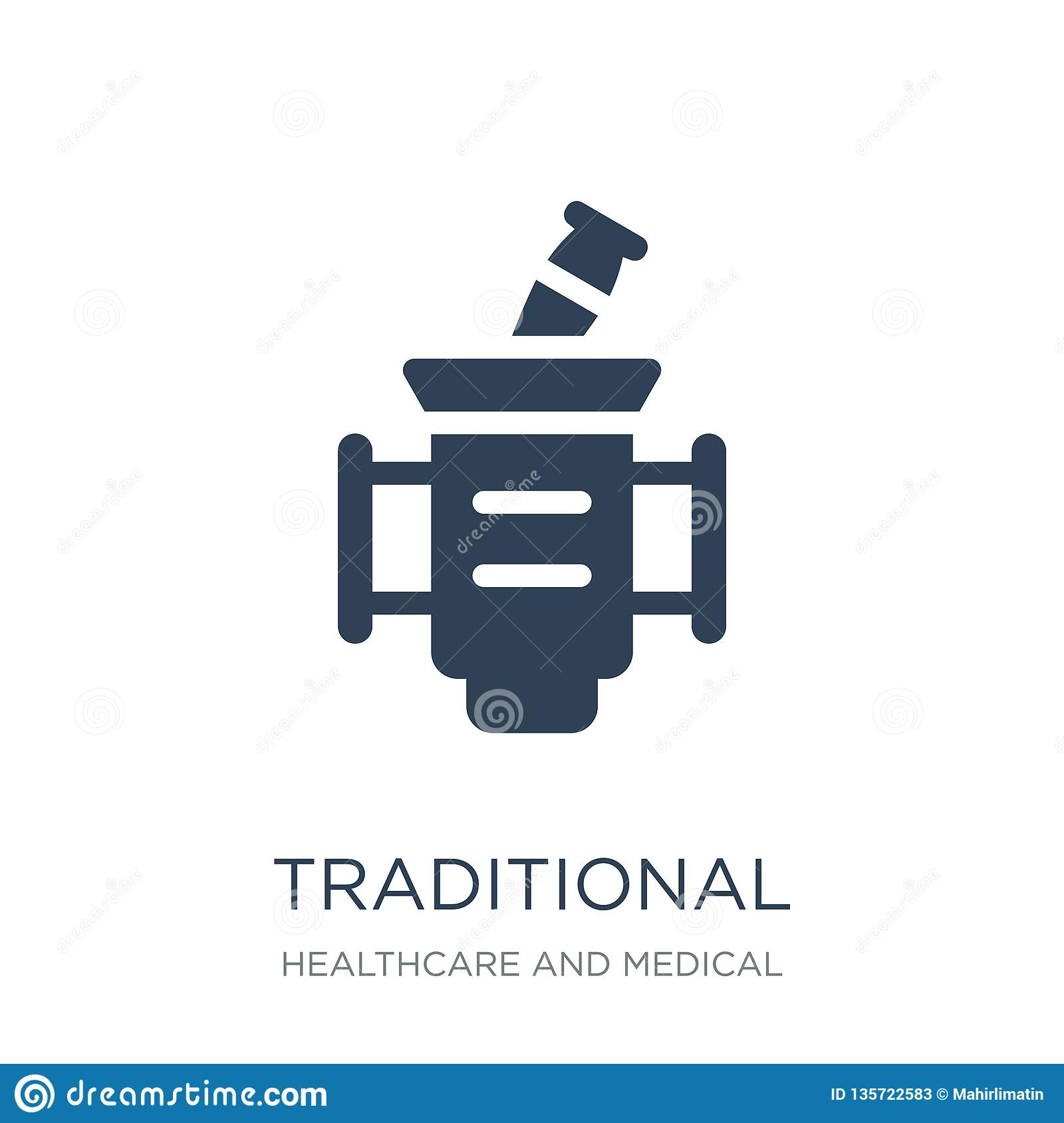 traditional medicine icon in trendy design style. traditional medicine icon isolated on white background. traditional medicine
