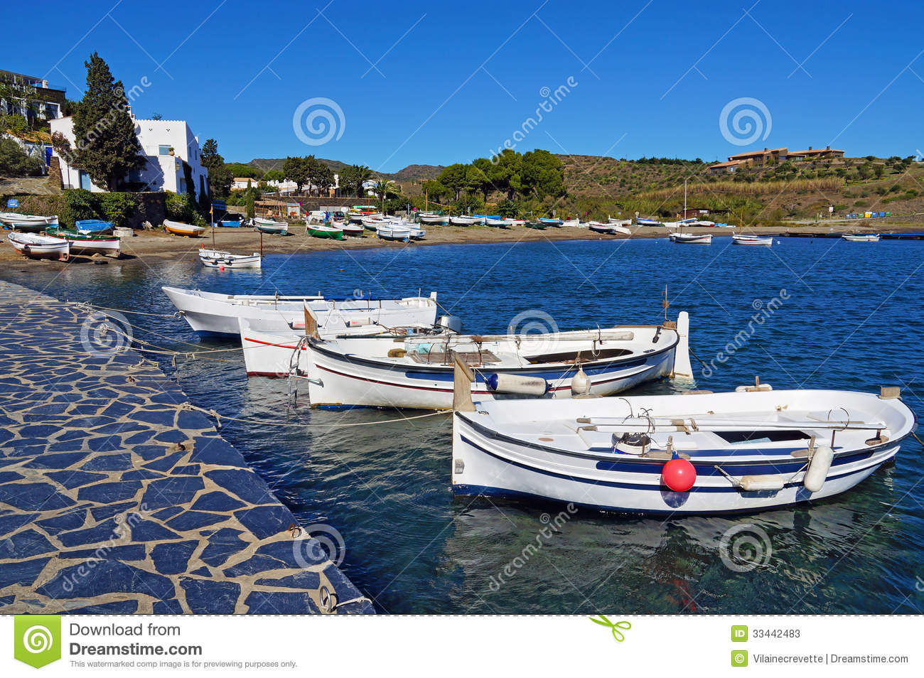 Traditional Mediterranean Fishing Boats Stock Photos - Image: 33442483