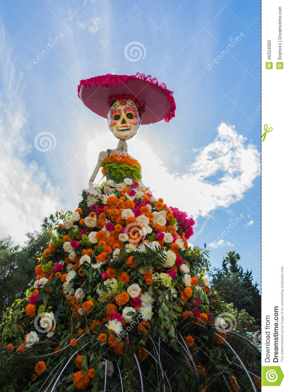 Traditional mexican Catrina skeleton at the 15th annual Day of