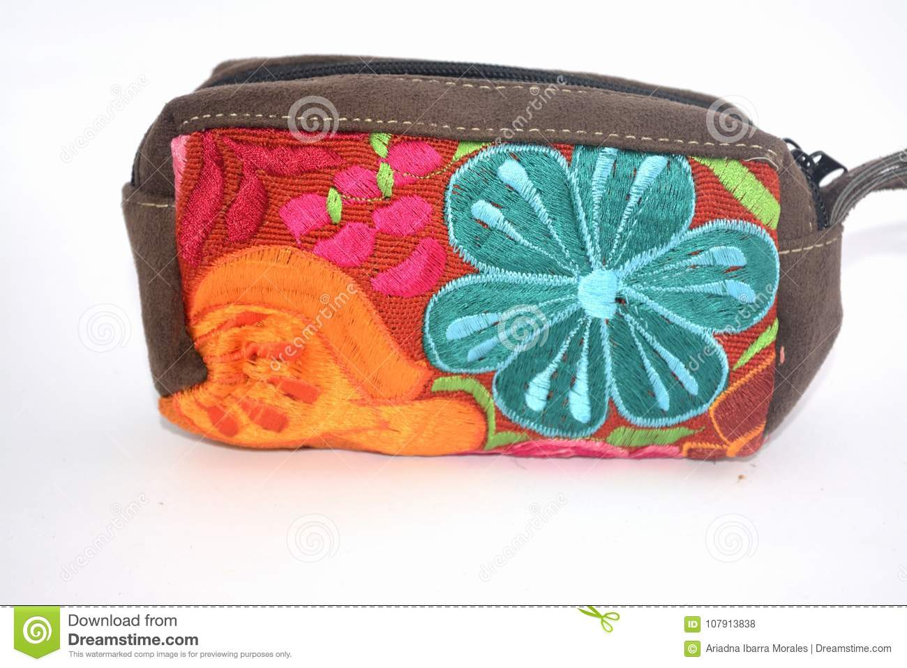 Download Traditional Mexican Textile Handbag Made By Hand In Chiapas State Stock Photo