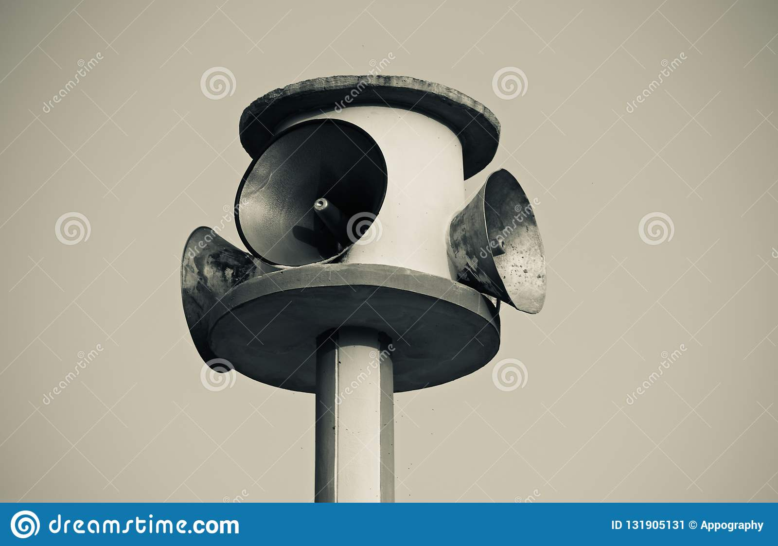 Traditional mic speakers isolated object photo
