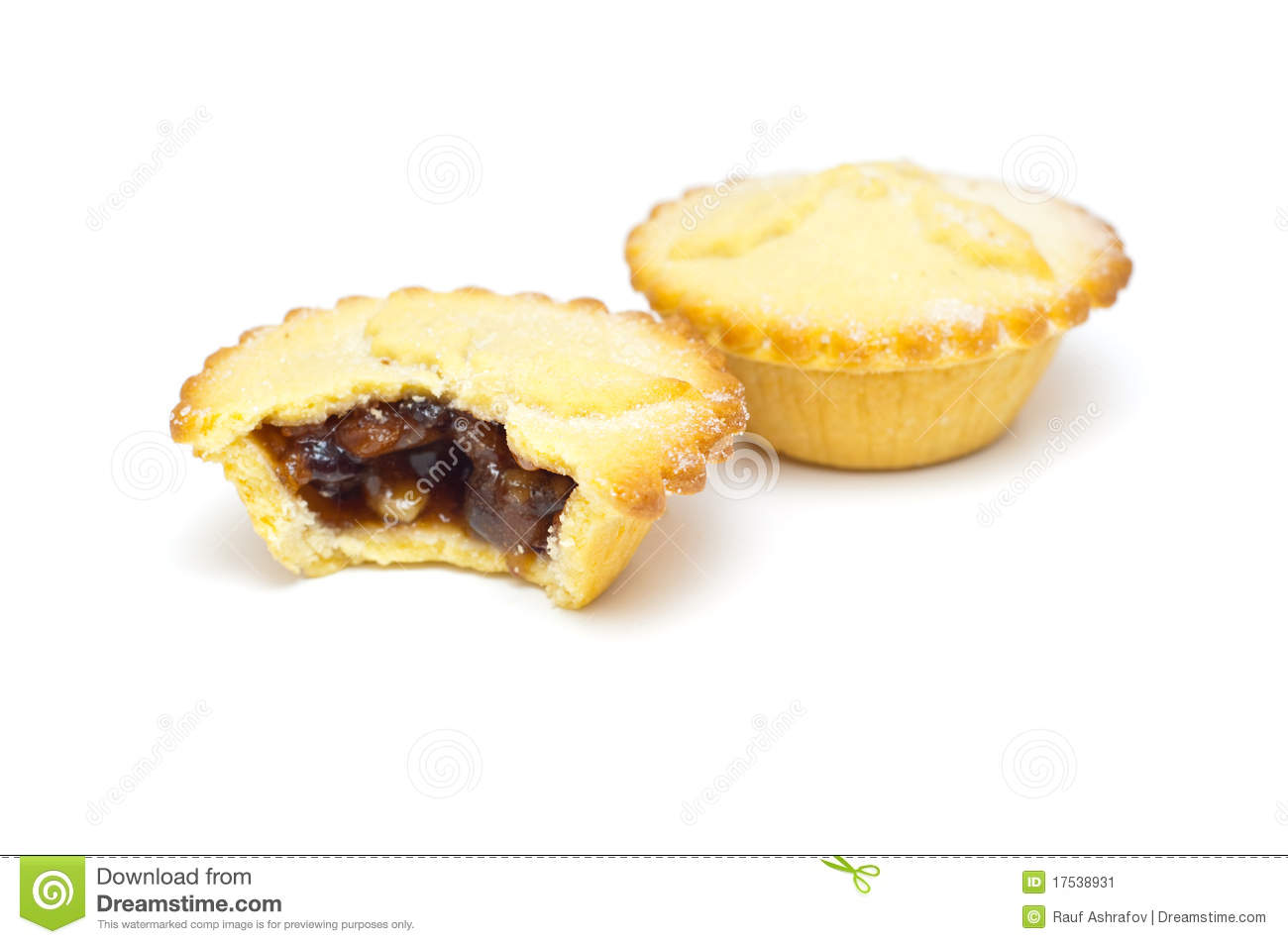 Traditional Mince Pies On A White Background Stock Image - Image ...