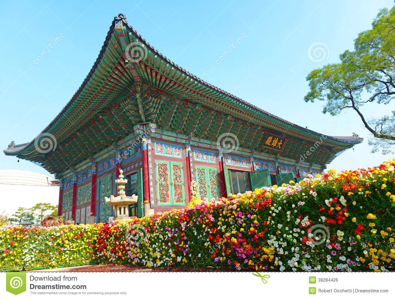 Traditional And Modern Architecture South Korea Stock Photo