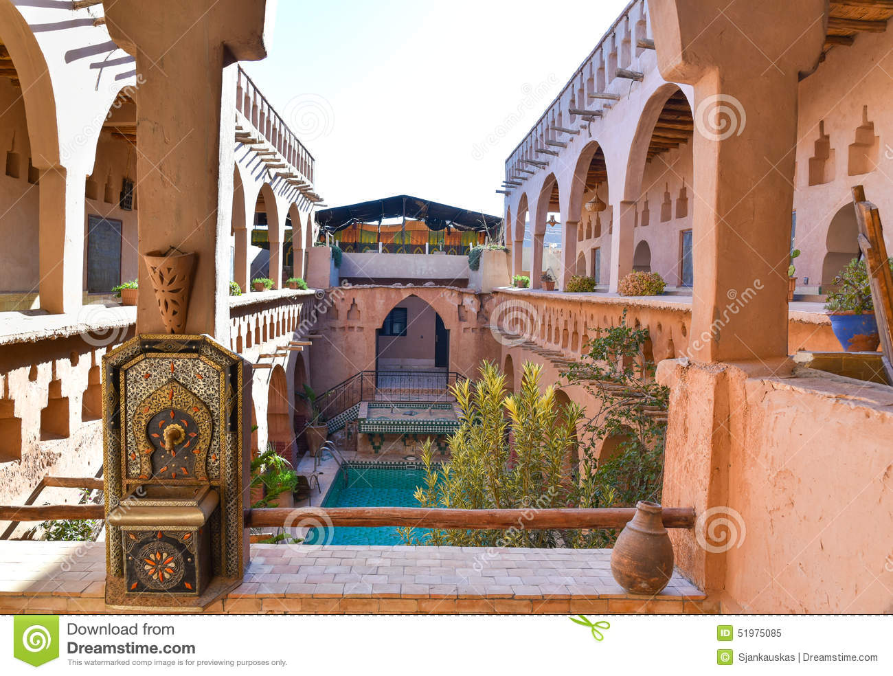 Traditional moroccan house stock image image of arab for Moroccan house design