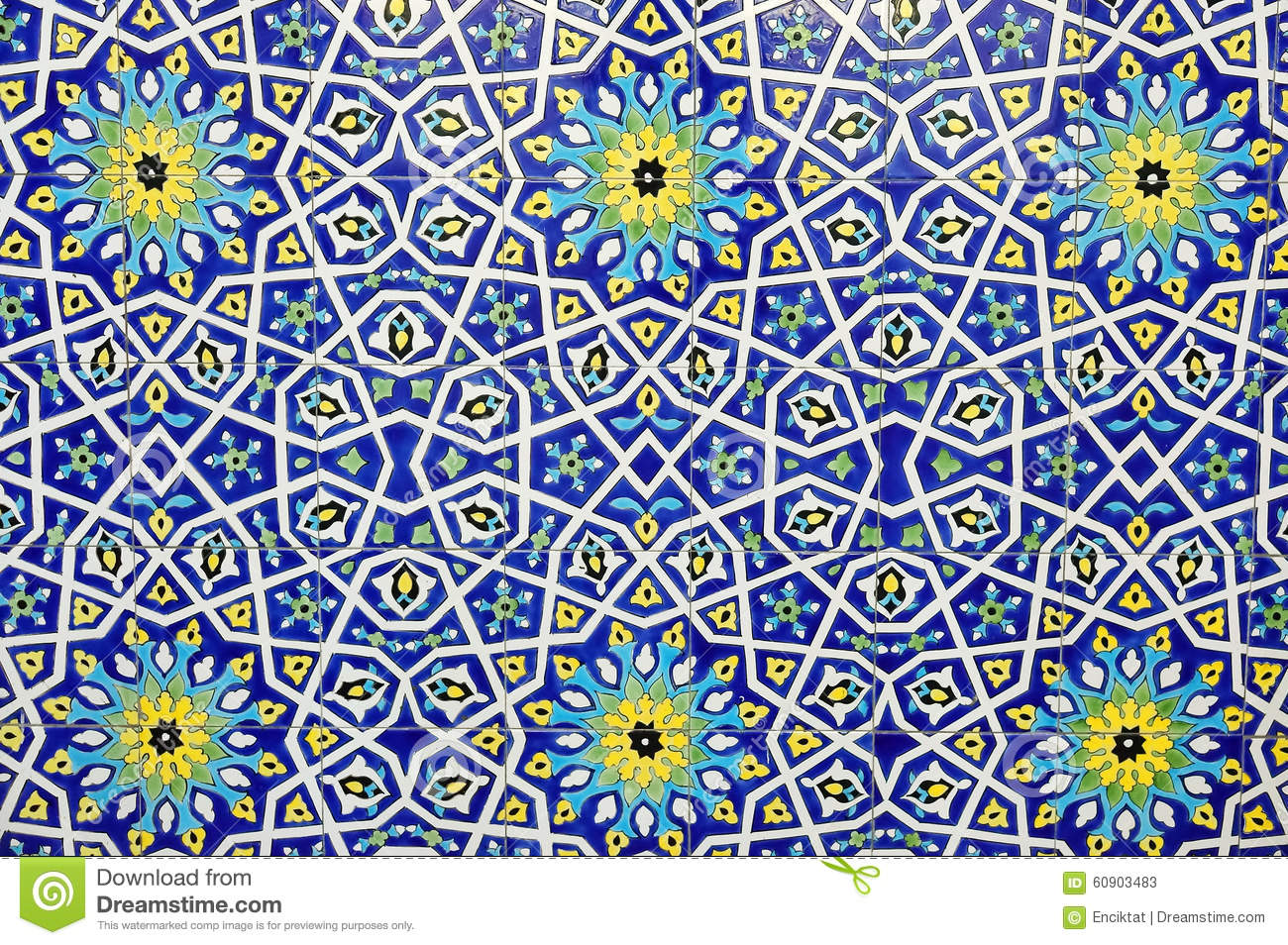 Traditional Moroccan Tile Pattern Background Stock Photo Image 60903483