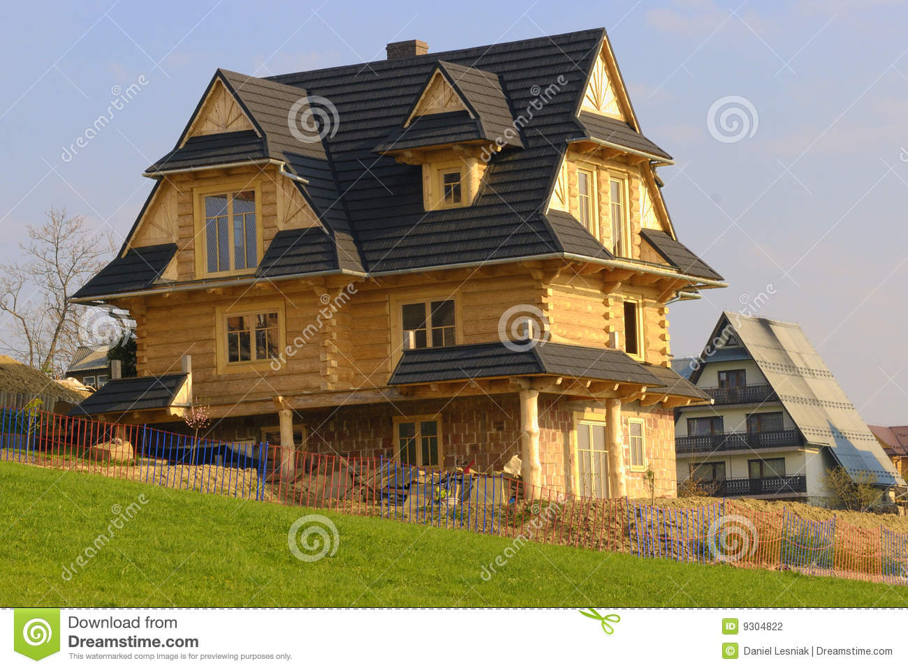 Traditional Mountain Wooden House Stock Photo Image 9304822