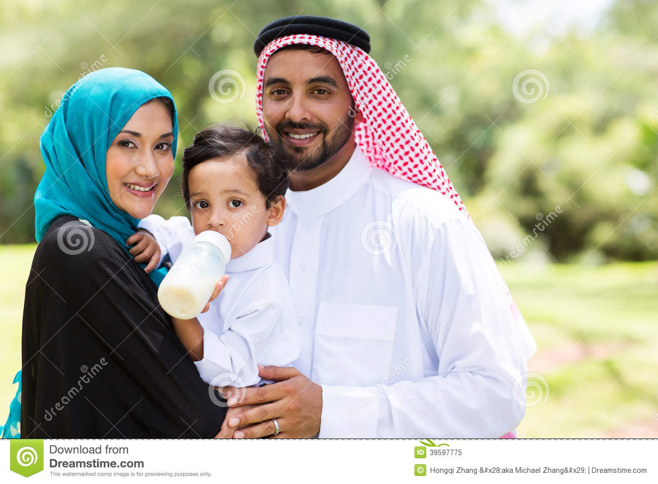 Traditional muslim family stock image image of forest for Traditional photos