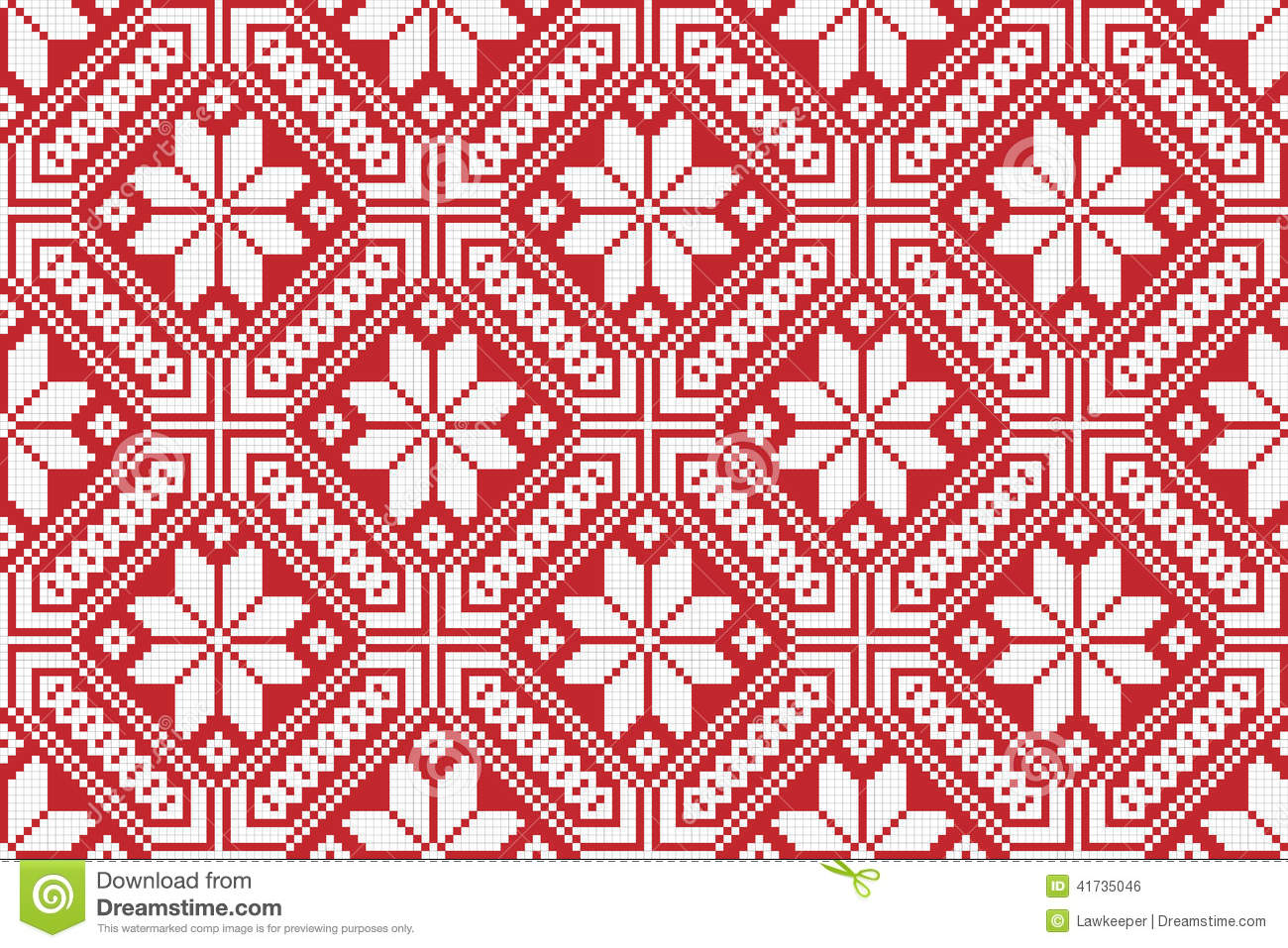 Traditional National Embroidered Pattern Stock Vector Image 41735046