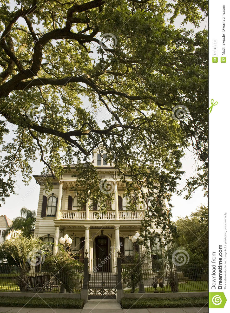 Traditional New Orleans House In Garden District S Stock Image ...