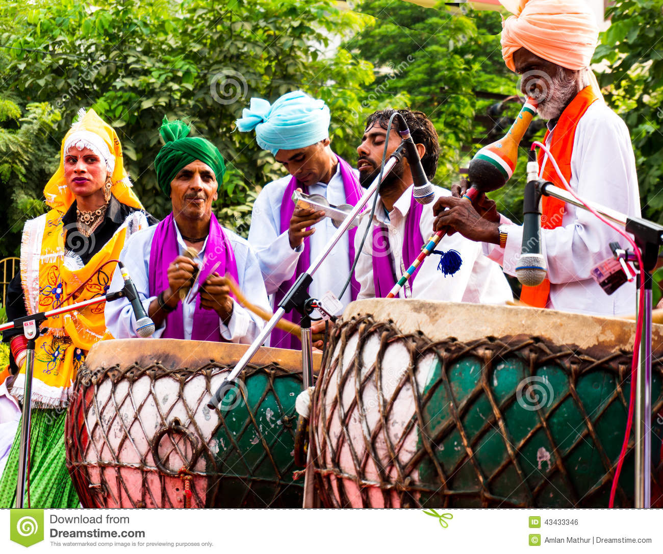 Traditional North Indian Musicians Editorial Photo - Image ...