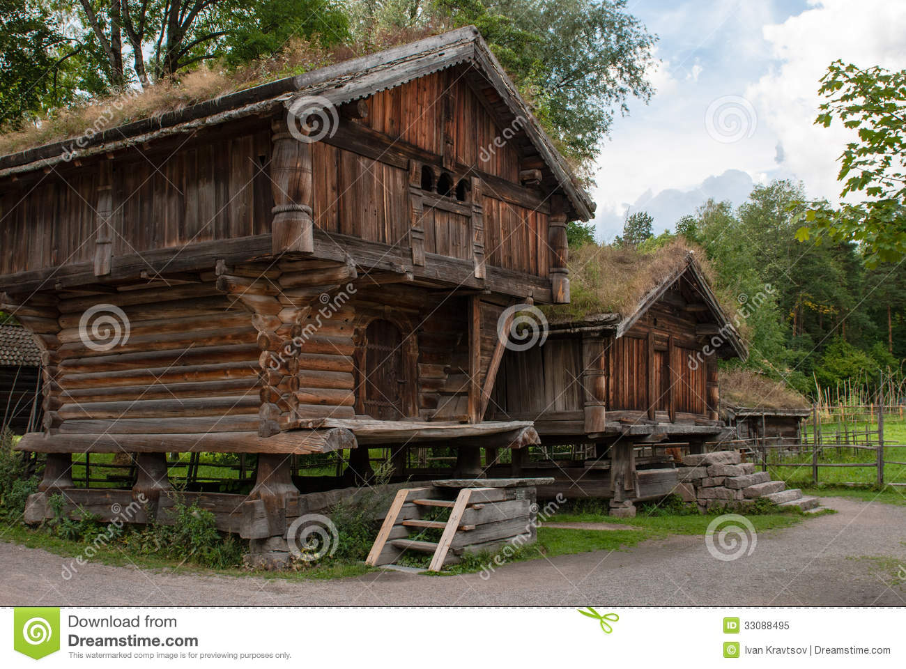 Traditional norwegian house stock image image 33088495 - Traditional houses attic ...